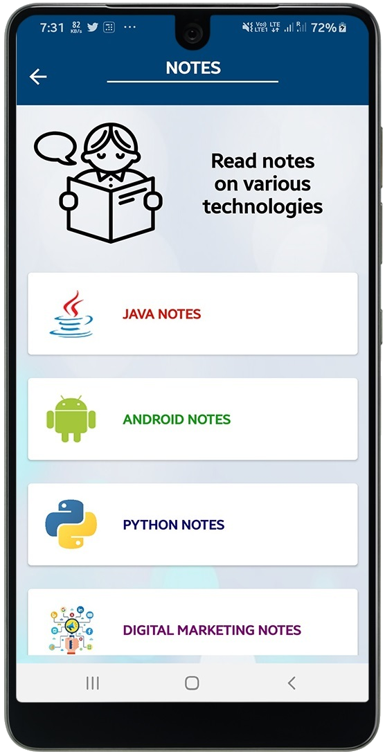 java python android notes by smart programming