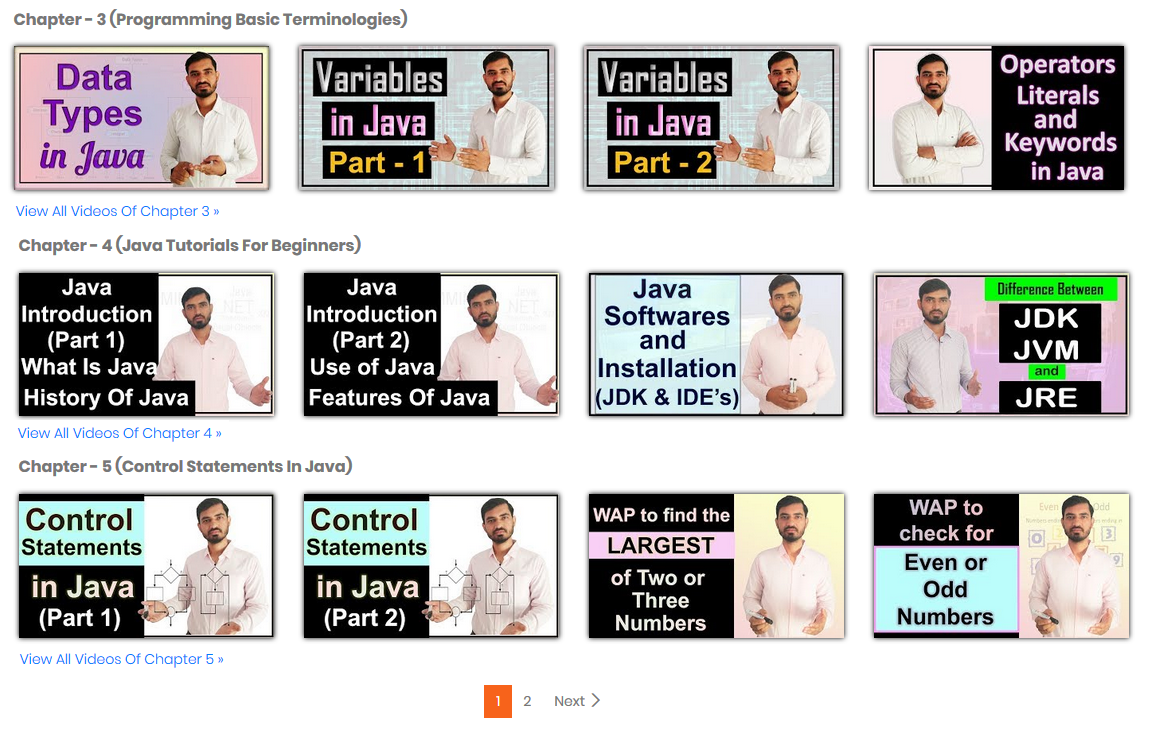 Java Video Lectures by Deepak Smart Programming